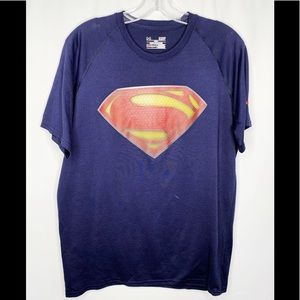 Under Armour Superman T-Shirt Sz S